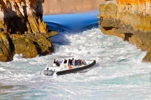Boat through Horizontal Falls