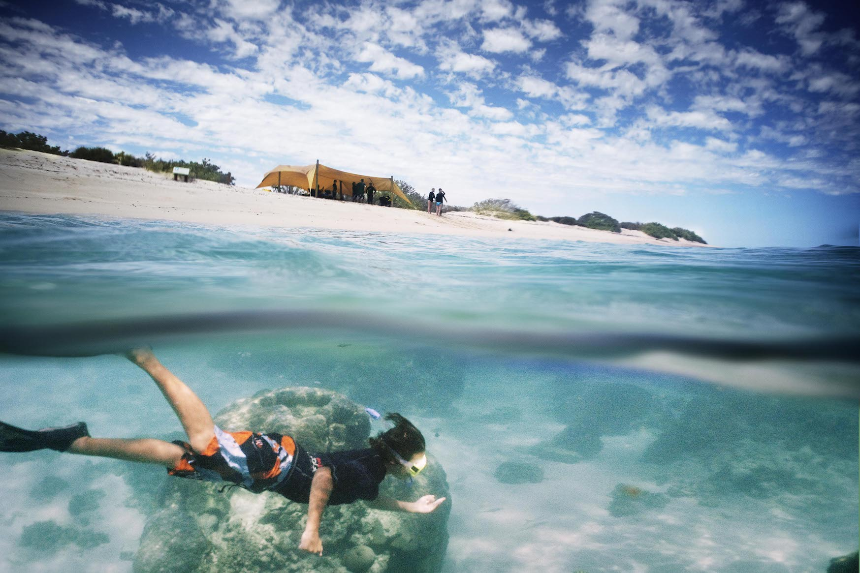 Snorkel off the Beach